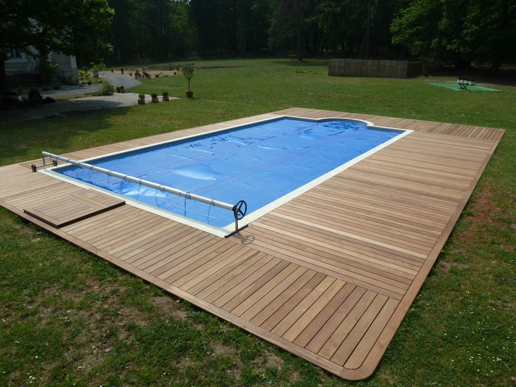 Terrasse bois exterieur piscine diverses for Amenagement plage piscine
